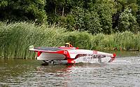 Nederland -  Purmerend - 23 juni  2018.    Solar Sport One race competitie. Het wereldkampioenschap Solar Boat racen. Boten die varen op zonne-energie.    Foto Berlinda van Dam Hollandse Hioogte