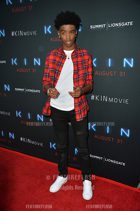 """LOS ANGELES, CA. August 29, 2018: Myles Truitt at the premiere of """"KIN"""" at the Arclight Theatre, Hollywood."""