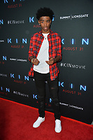 "LOS ANGELES, CA. August 29, 2018: Myles Truitt at the premiere of ""KIN"" at the Arclight Theatre, Hollywood."