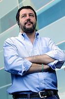 Matteo Salvini <br /> Roma 20-04-2016 Il segretario della Lega Nord in visita alla stazione Tiburtina.<br /> Rome 20th April 2016. The secretary of Lega Nord party visits Tiburtina Station<br /> Photo Samantha Zucchi Insidefoto