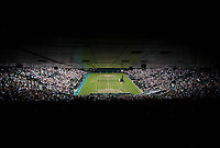 A general view of Centre Court, at the All England Lawn Tennis and Croquet Club<br /> <br /> Photographer Ashley Western/CameraSport<br /> <br /> Wimbledon Lawn Tennis Championships - Day 10 - Thursday 13th July 2017 -  All England Lawn Tennis and Croquet Club - Wimbledon - London - England<br /> <br /> World Copyright &not;&copy; 2017 CameraSport. All rights reserved. 43 Linden Ave. Countesthorpe. Leicester. England. LE8 5PG - Tel: +44 (0) 116 277 4147 - admin@camerasport.com - www.camerasport.com