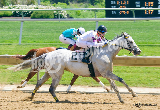 Uncle Carm winning at Delaware Park  on 5/25/15