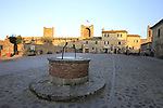 Walled town of Monteriggioni along the route of the 2014 Strade Bianche race, Tuscany, Italy. 7th March 2014.<br /> Picture: Eoin Clarke www.newsfile.ie
