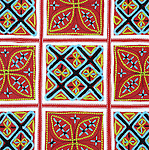 Flower Hmong Embroidery 01 - Traditional Flower Hmong hill-tribe fabric embroidered with cross-stitch, from NW Viet Nam