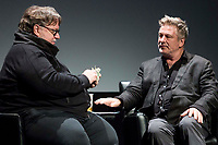 NEW YORK, NEW YORK - APRIL 25: Guillermo del Toro and Alec Baldwin during Tribeca Talks - Directors Series - Guillermo del Toro - 2019 Tribeca Film Festival at BMCC Tribeca in New York City. (Photo by Pablo Monsalve/VIEWpress/Corbis via Getty Images)