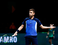 Rotterdam, The Netherlands, 9 Februari 2020, ABNAMRO World Tennis Tournament, Ahoy,  vs FilipKrajinovic (SRB). Photo: www.tennisimages.com
