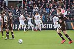 Jubel beim SV Sandhausen nach dem 2:1  beim Spiel in der 2. Bundesliga, SV Sandhausen - FC St. Pauli.<br /> <br /> Foto © PIX-Sportfotos *** Foto ist honorarpflichtig! *** Auf Anfrage in hoeherer Qualitaet/Aufloesung. Belegexemplar erbeten. Veroeffentlichung ausschliesslich fuer journalistisch-publizistische Zwecke. For editorial use only. For editorial use only. DFL regulations prohibit any use of photographs as image sequences and/or quasi-video.