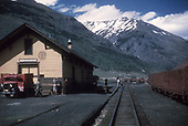 Depot activity at Silverton while waiting for the daily train.<br /> D&amp;RGW  Silverton, CO