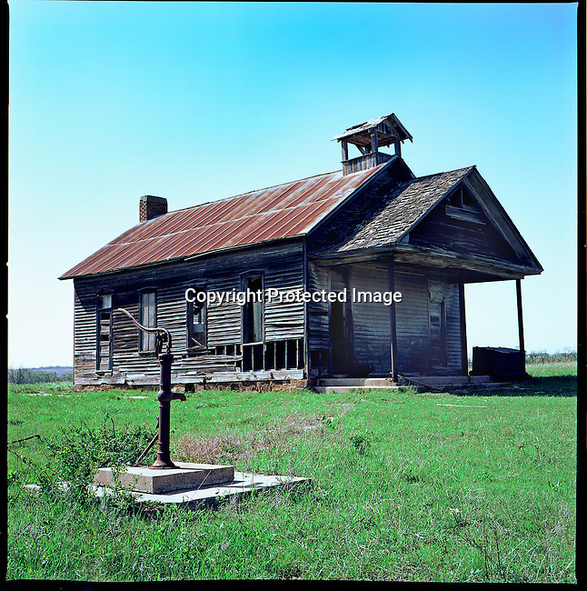 School House with Pump, Kansas