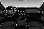 Stock photo of straight dashboard view of 2018 Land Rover Discovery HSE 5 Door SUV