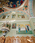 Greek church interior, Nisyros island, Greece