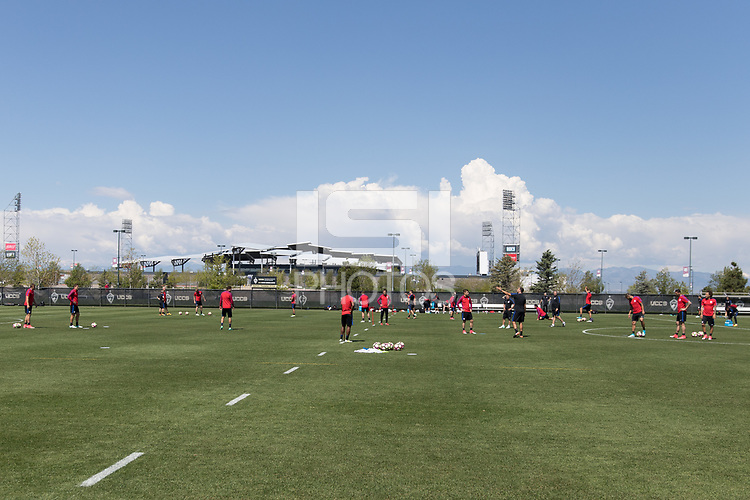 Denver, CO  - Monday May 29, 2017: The U.S. Men's National team train in preparation for their upcoming WCQ Hex games at Dick's Sporting Goods Park.