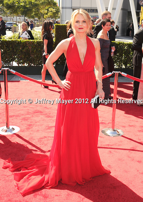 LOS ANGELES, CA - SEPTEMBER 15: Jennifer Morrison arrives at the 2012 Primetime Creative Arts Emmy Awards at Nokia Theatre L.A. Live on September 15, 2012 in Los Angeles, California.