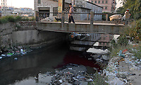 The streets and rivers in Lian Jiao town near Nanhai in China's Guangdong Province are heavily polluted due to the waste plastic that it recylcles. Much of which is brought from European countries..30 Aug 2006