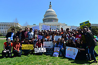 Washington, DC - April 20, 2018: Students from D.C., Maryland and Virginia area schools gathered for a rally at the U.S. Capitol after marching from the White House to participate in the National School Walkout April 20, 2018.  (Photo by Don Baxter/Media Images International)