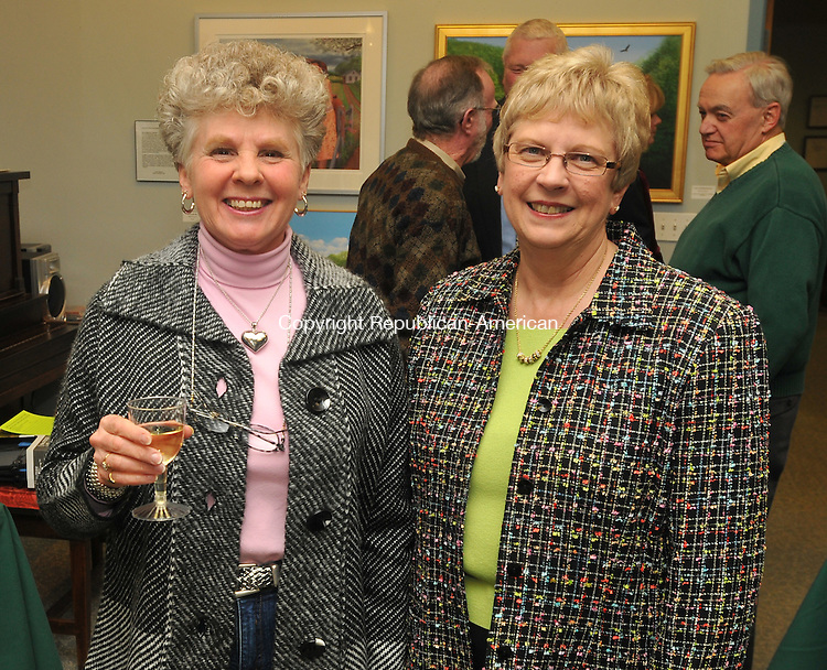 MIDDLEBURY, CT- 06 February 2010 - 020610IP03- Nancy Maximenko (left) of Naugatuck and Kathy Arnauckas of Oakville, attended The Golden Age of Trucking Museum's annual &quot;February Fundraiser&quot; benefit in Middlebury on Saturday. The money raised will allow the museum to expand its desplays, update the children's area and maintain current exhibits.<br /> Irena Pastorello Republican-American