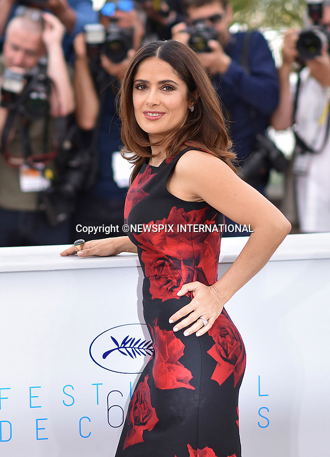 14.05.2015; Cannes France: SALMA HAYAK<br />attends the &quot;Tale Of Tales&quot; photocall at the 68th Cannes Film Festival.<br />Mandatory Credit Photo: &copy;Thibaut Daliphard/NEWSPIX INTERNATIONAL<br /><br />**ALL FEES PAYABLE TO: &quot;NEWSPIX INTERNATIONAL&quot;**<br /><br />PHOTO CREDIT MANDATORY!!: NEWSPIX INTERNATIONAL(Failure to credit will incur a surcharge of 100% of reproduction fees)<br /><br />IMMEDIATE CONFIRMATION OF USAGE REQUIRED:<br />Newspix International, 31 Chinnery Hill, Bishop's Stortford, ENGLAND CM23 3PS<br />Tel:+441279 324672  ; Fax: +441279656877<br />Mobile:  0777568 1153<br />e-mail: info@newspixinternational.co.uk