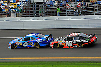 Ricky Stenhouse, Jr. (#6) and Denny Hamlin (#18)