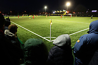 A general view of the main stand as a record crowd of 1133 is seen Haringey Borough vs Leyton Orient, Buildbase FA Trophy Football at Coles Park Stadium on 16th December 2017