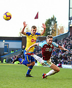 2nd February 2019, Turf Moor, Burnley, England; EPL Premier League football, Burnley versus Southampton; Charlie Taylor of Burnley falls to the floor after a challenge from James Ward-Prowse of Southampton no foul was given