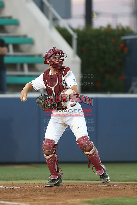 Cassidy Brown (13) of the Loyola Marymount Lions in the field during a game against the Gonzaga Bulldogs at Page Stadium on March 27, 2015 in Los Angeles, California. Loyola Marymount defeated Gonzaga 6-5.(Larry Goren/Four Seam Images)