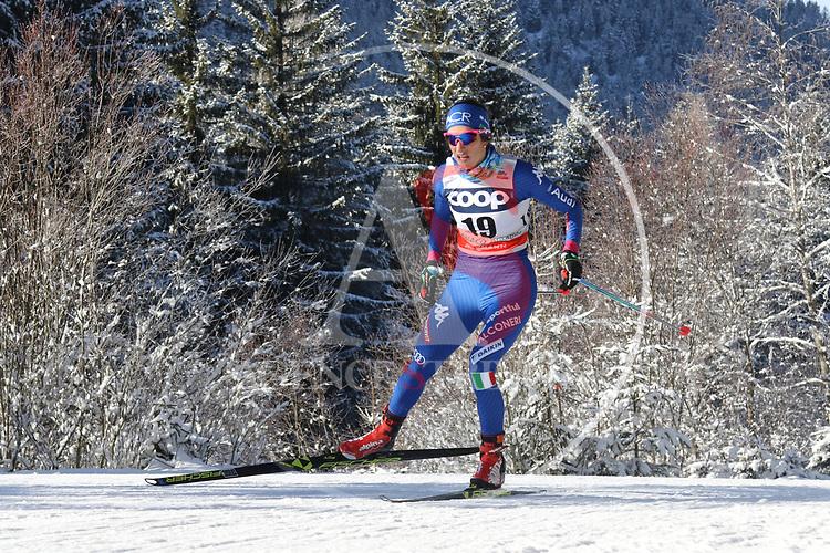 Cross Country Ski World Cup 2018 FIS in Dobbiaco, Toblach, on December 16, 2017; Ladies 10 Km Interval Start Free technique ; Ilaria Debertolis (ITA)<br /> &copy; Pierre Teyssot / Pentaphoto