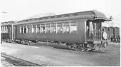 3/4 left rear view of parlor car &quot;Salida&quot; with Shavano drum head.<br /> D&amp;RGW