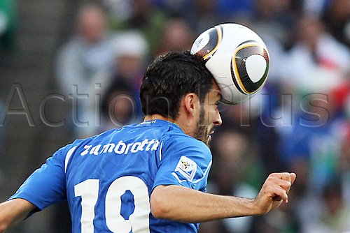 24 JUN 2010:  Gianluca Zambrotta (ITA)(19).  The Slovakia National Team led the Italy National Team 1-0 at half time at Ellis Park Stadium in Johannesburg, South Africa in a 2010 FIFA World Cup Group F match.