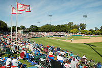 Stanford's baseball stadium, Sunken Diamond, during Stanford's 7-4 loss to Long Beach State during the NCAA Regionals on June 5, 2004 in Stanford, CA.<br />