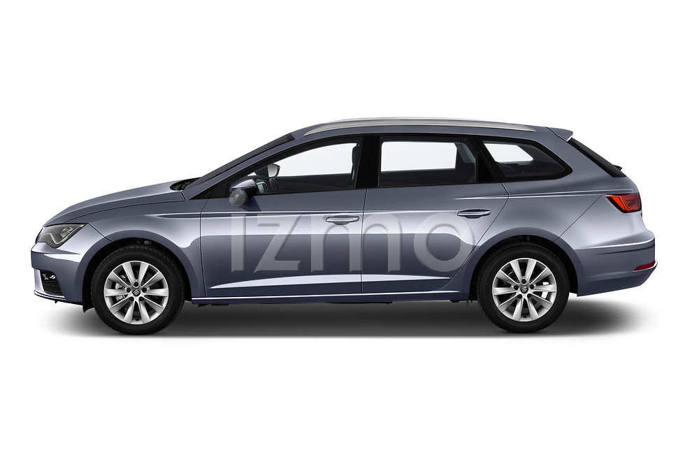 Car driver side profile view of a 2018 Seat Leon ST Style 5 Door Wagon