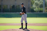 Chicago White Sox pitcher Blake Battenfield (50) prepares to deliver a pitch to the plate during an Instructional League game against the Los Angeles Dodgers on September 30, 2017 at Camelback Ranch in Glendale, Arizona. (Zachary Lucy/Four Seam Images)