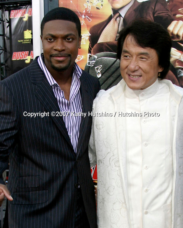 "Chris Tucker, Jackie Chan.""Rush Hour 3"" Premiere.Grauman's Chinese.Los Angeles, CA.July 30, 2007.©2007 Kathy Hutchins / Hutchins Photo...."