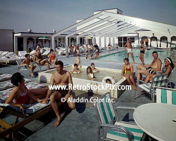 1960's retro photograph of the Carrilion Motel located in Atlantic City, NJ.