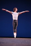 Semyon Chudin from the Bolshi Ballet performing  'Grand Pas Classique' during the rehearsal for 'Stars of the 21st Century' at the David H. Koch Theater at Lincoln Center  on October 18, 2012 in New York City.