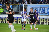 VOETBAL: HEERENVEEN: Abe Lenstra Stadion, SC Heerenveen - Vitesse, 21-01-2012, Luciano Narsingh (#24), Alexander Büttner (#5), Eindstand 1-1, ©foto Martin de Jong