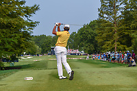 Hideki Matsuyama (JPN) watches his tee shot on 6 during 4th round of the 100th PGA Championship at Bellerive Country Club, St. Louis, Missouri. 8/12/2018.<br /> Picture: Golffile   Ken Murray<br /> <br /> All photo usage must carry mandatory copyright credit (© Golffile   Ken Murray)