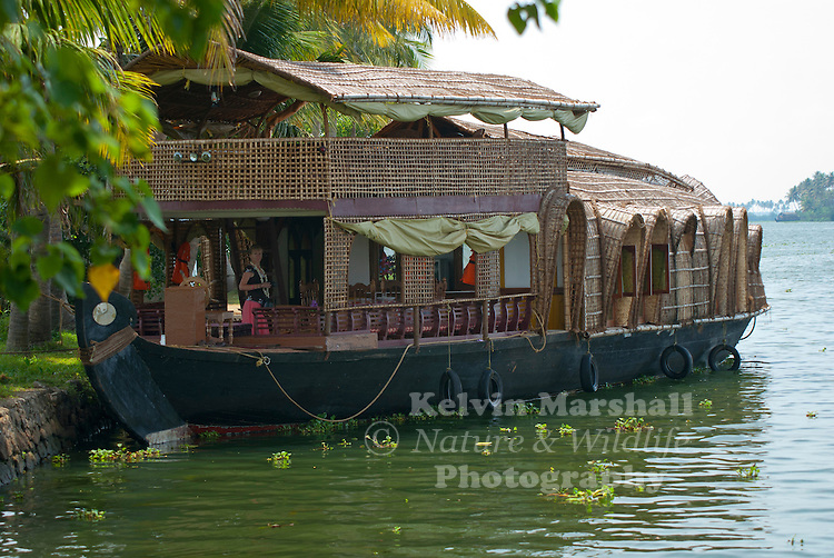 Houseboats called `kettuvallom' in the local language meaning `knotted boat', the modern day houseboat is a reincarnation of the traditional canoe used to transport items of daily home use from the mainland to homes cut away by the winding waterways known as `backwaters' The term backwaters are used to denote a network of canals and waterways stretching two hundred kilometers from Kollam in the south through Alleppey and Kumarakom in Central Kerala up to Kodungaloor.