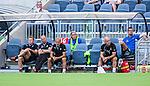 Stockholm 2014-07-20 Fotboll Superettan Hammarby IF - &Ouml;sters IF :  <br /> &Ouml;sters  tr&auml;nare Roberth Bj&ouml;rknesj&ouml; och &Ouml;ster assisterande tr&auml;nare Peter Wibr&aring;n ser fundersamma ut p&aring; &Ouml;sters avbytarb&auml;nk under matchen med tomma stolar kring sig<br /> (Foto: Kenta J&ouml;nsson) Nyckelord:  Superettan Tele2 Arena Hammarby HIF Bajen &Ouml;ster &Ouml;IF fundersam fundera t&auml;nka analysera depp besviken besvikelse sorg ledsen deppig nedst&auml;md uppgiven sad disappointment disappointed dejected