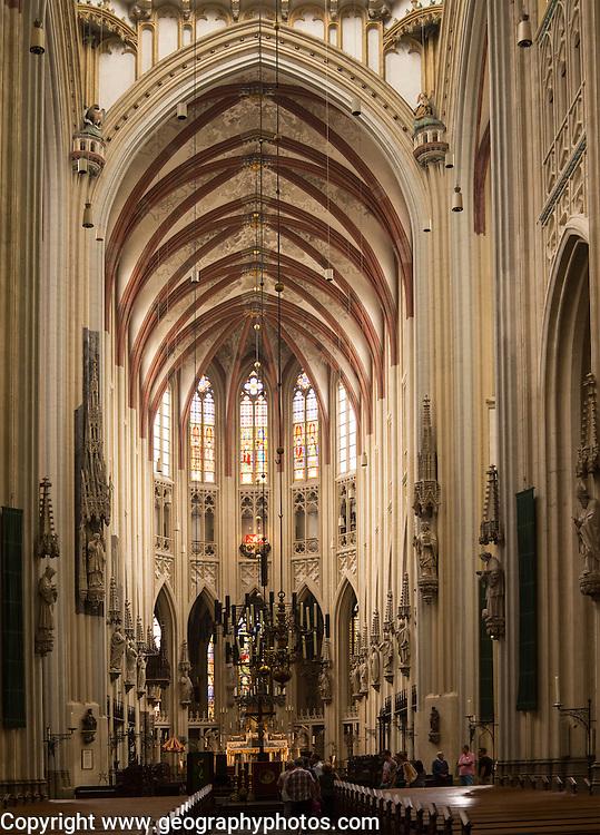 Interior of Saint John cathedral church, 's-Hertogenbosch, Den Bosch, North Brabant province, Netherlands