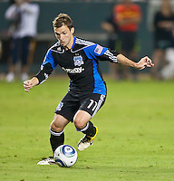 CARSON, CA – August 20, 2011: San Jose Earthquake midfielder Bobby Convey (11) during the match between LA Galaxy and San Jose Earthquakes at the Home Depot Center in Carson, California. Final score LA Galaxy 2, San Jose Earthquakes 0.