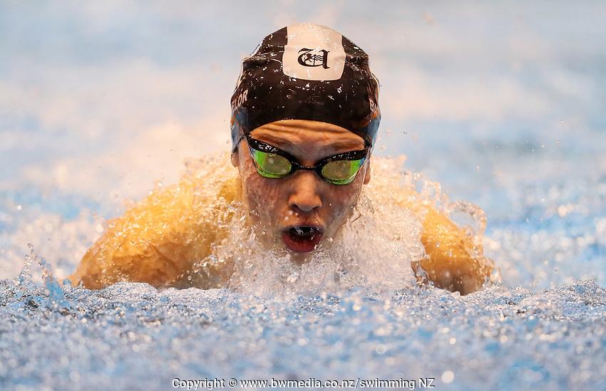 Hugo Batchelor. Swimming New Zealand Aon National Age Group Championships, Wellington Regional Aquatic Centre, Wellington, New Zealand, Tuesday 15 2019. Photo: Simon Watts/www.bwmedia.co.nz