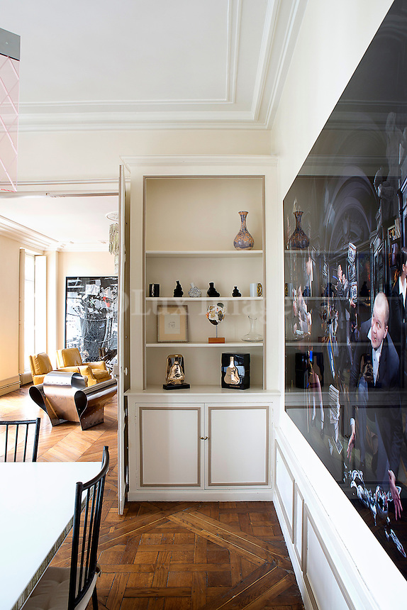 White cabinet shelves