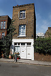 Unusual narrow house split into two flats, Whidborne Street, King's Cross, London WC1, England