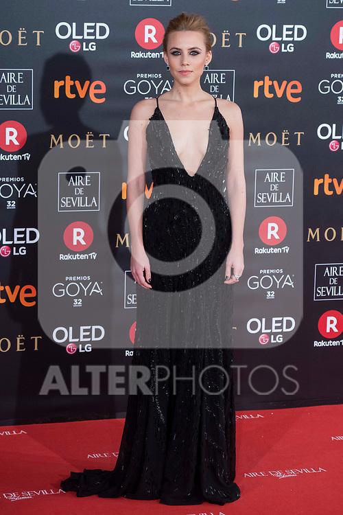 Aura Garrido attends red carpet of Goya Cinema Awards 2018 at Madrid Marriott Auditorium in Madrid , Spain. February 03, 2018. (ALTERPHOTOS/Borja B.Hojas)