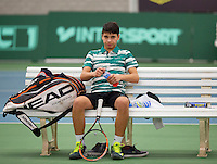 March 13, 2015, Netherlands, Rotterdam, TC Victoria, NOJK, Sidané Pontjodikromo (NED)<br /> Photo: Tennisimages/Henk Koster