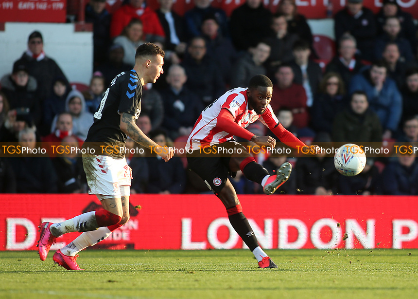 Josh DaSilva of Brentford in action during Brentford vs Middlesbrough, Sky Bet EFL Championship Football at Griffin Park on 8th February 2020
