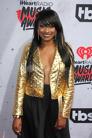 INGLEWOOD, CA - APRIL 3: Kayla Brianna at the iHeartRadio Music Awards at The Forum on April 3, 2016 in Inglewood, California. Credit: David Edwards/MediaPunch