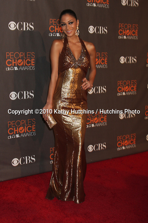Nicole Scherzinger.arriving  at the 2010 People's Choice Awards.Nokia Theater.January 6, 2010.©2010 Kathy Hutchins / Hutchins Photo.