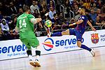 League LNFS 2017/2018 - Game 18.<br /> FC Barcelona Lassa vs Catgas Energia: 2-2.<br /> Cristian vs Adolfo Fernandez.