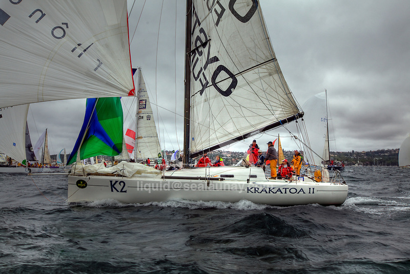 Onboard 41 Sud, an Archambault 40 from New Caledonia under the French flag, skippered by Jean-Luc Esplaas, during the Rolex Sydney Hobart Yacht Race 2009..Over the past 64 years, the Rolex Sydney Hobart has become an icon of Australiaís summer sport.
